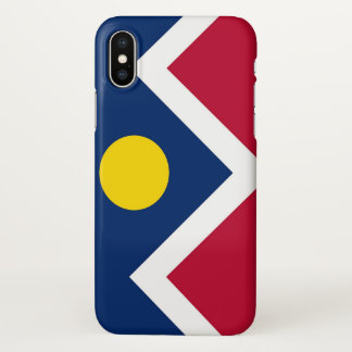 Glossy iPhone Case with Flag of Denver, USA