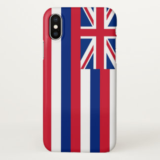 Glossy iPhone Case with Flag of Hawaii, USA