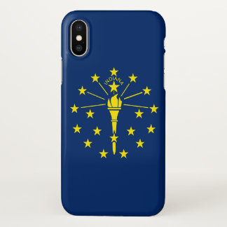 Glossy iPhone Case with Flag of Indiana, USA