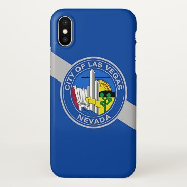 Glossy iPhone Case with Flag of Las Vegas