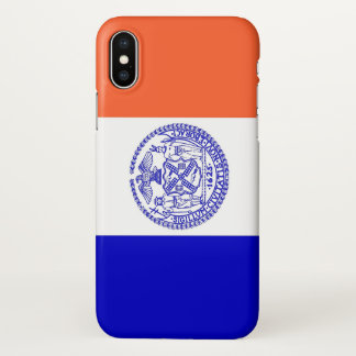 Glossy iPhone Case with Flag of New York City, USA