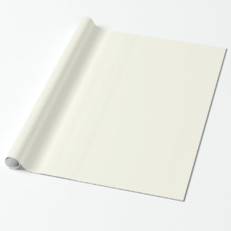 Glossy Ivory White Wrapping Paper