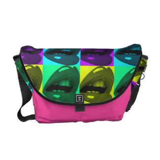 Glossy Lips Pop Art Rickshaw Messenger Bag