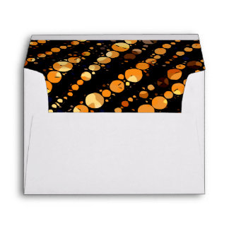 Glossy Orange Black Zebra Abstract Envelope