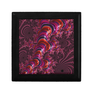 Glossy Pink Blue Twisted Fractal Gift Box