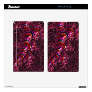 Glossy Pink Blue Twisted Fractal Kindle Fire Skin