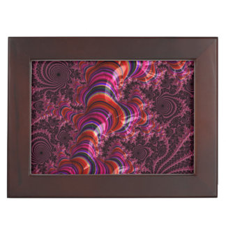 Glossy Pink Blue Twisted Fractal Memory Box