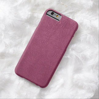 Glossy Pink Leather - Close up Texture Barely There iPhone 6 Case
