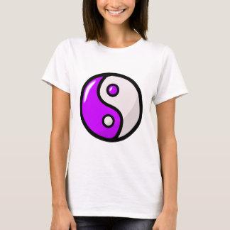 Glossy Purple Yin Yang in Balance T-Shirt
