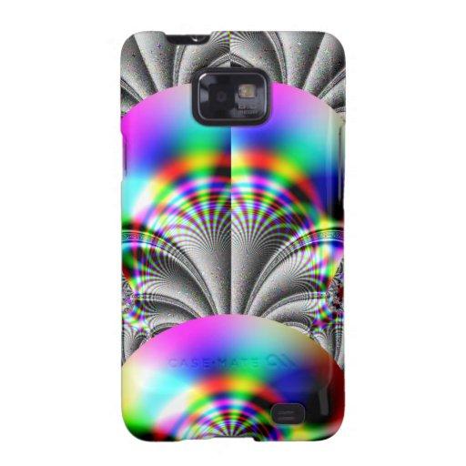 Glossy Rainbow Fractal Galaxy S2 Case