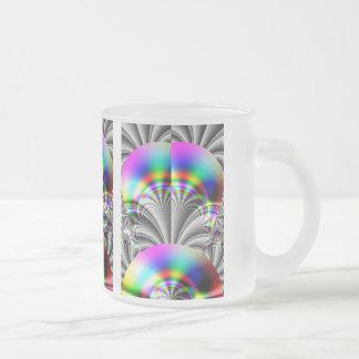 Glossy Rainbow Fractal Coffee Mugs