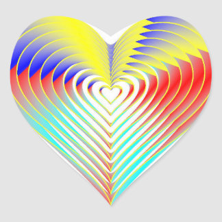 Glossy Rainbow Heart Stickers