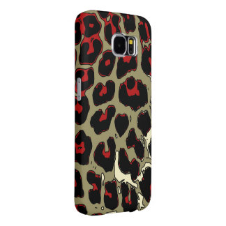 Glossy Red Black Cheetah Samsung Galaxy S6 Case