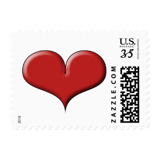 Glossy Red Heart by Sonja A.S. Postage
