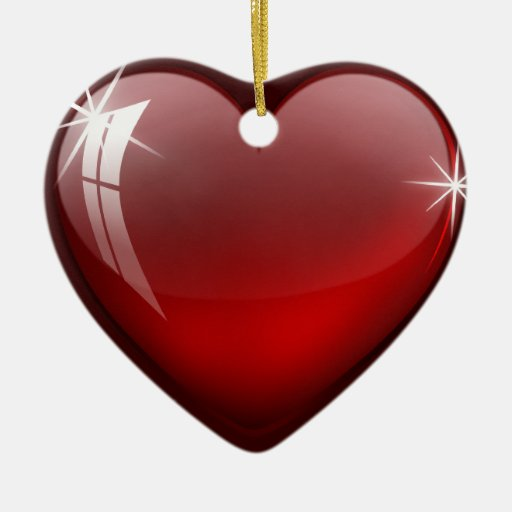 Glossy Red Heart ornament