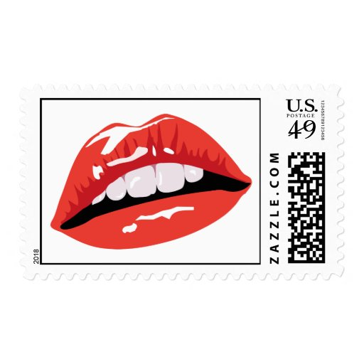 Glossy Red Lips Stamps