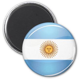 Glossy Round Argentina Flag 2 Inch Round Magnet
