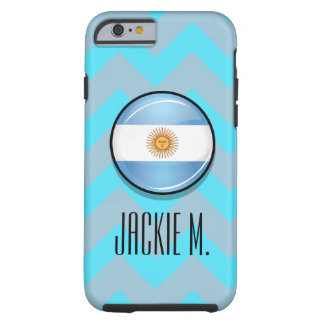 Glossy Round Argentina Flag Tough iPhone 6 Case