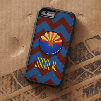 Glossy Round Arizona Flag Tough Xtreme iPhone 6 Case
