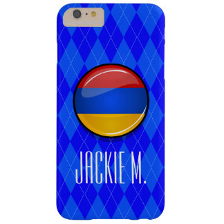 Glossy Round Armenia Flag Barely There iPhone 6 Plus Case