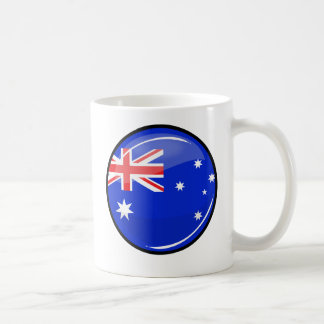 Glossy Round Australian Flag Coffee Mug