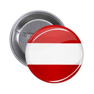 Glossy Round Austrian Flag Button