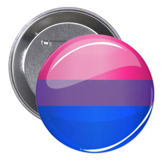 Glossy Round Bisexuality Flag 3 Inch Round Button