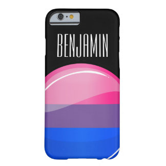 Glossy Round Bisexuality Flag Barely There iPhone 6 Case