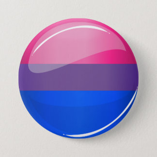 Glossy Round Bisexuality Flag Button