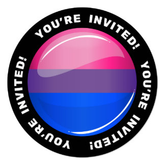 Glossy Round Bisexuality Flag Card
