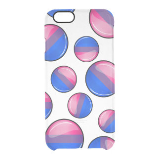 Glossy Round Bisexuality Flag Clear iPhone 6/6S Case