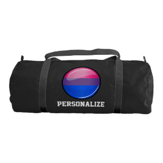 Glossy Round Bisexuality Flag Gym Duffle Bag