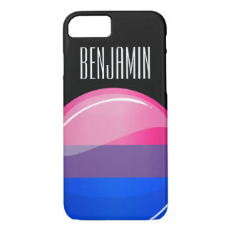 Glossy Round Bisexuality Flag iPhone 8/7 Case
