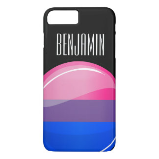 Glossy Round Bisexuality Flag iPhone 8 Plus/7 Plus Case