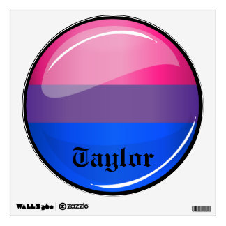 Glossy Round Bisexuality Flag Wall Sticker