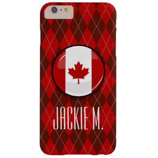 Glossy Round Canadian Flag Barely There iPhone 6 Plus Case