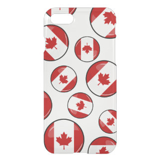 Glossy Round Canadian Flag iPhone 8/7 Case