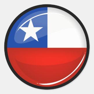 Glossy Round Chilean Flag Classic Round Sticker
