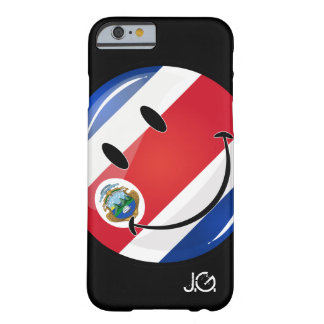 Glossy Round Costa Rican Flag Barely There iPhone 6 Case