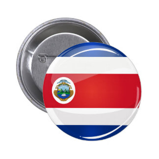 Glossy Round Costa Rican Flag 2 Inch Round Button