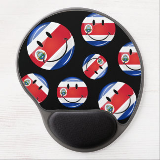 Glossy Round Costa Rican Flag Gel Mouse Pad