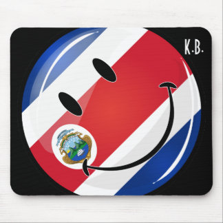 Glossy Round Costa Rican Flag Mouse Pad