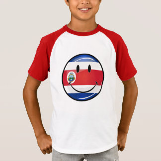 Glossy Round Costa Rican Flag T-Shirt