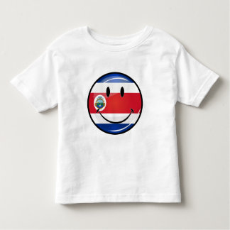 Glossy Round Costa Rican Flag Toddler T-shirt