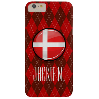 Glossy Round Denmark Flag Barely There iPhone 6 Plus Case