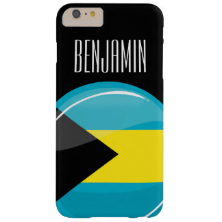 Glossy Round Flag of Bahamas Barely There iPhone 6 Plus Case