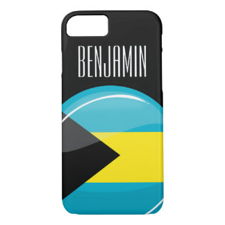 Glossy Round Flag of Bahamas iPhone 8/7 Case
