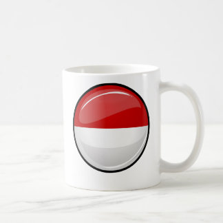 Glossy Round Flag of Monaco Coffee Mug