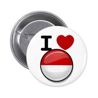 Glossy Round Flag of Poland 2 Inch Round Button