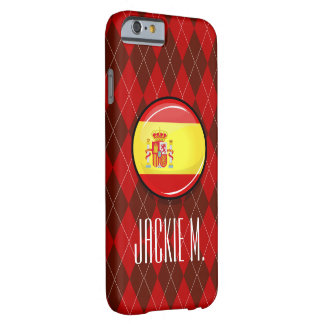 Glossy Round Flag of Spain Barely There iPhone 6 Case
